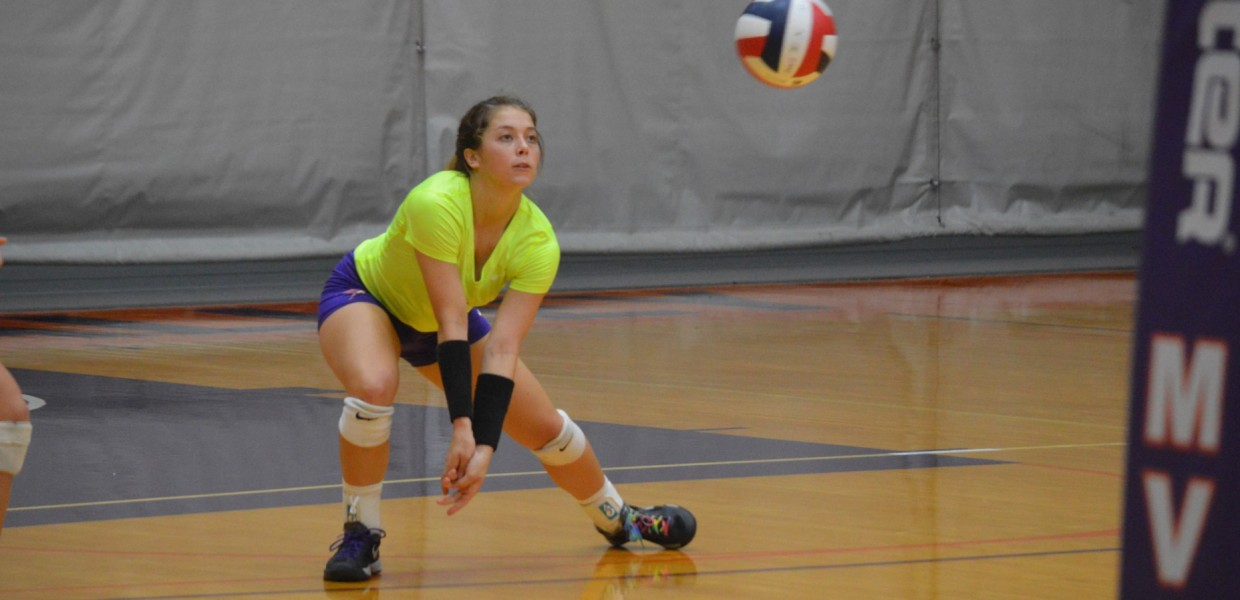 Photo for Women's Volleyball Tops Baker in First Heart Match